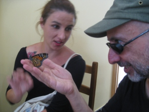 Emilio with butterly 'rancher', Laura Román